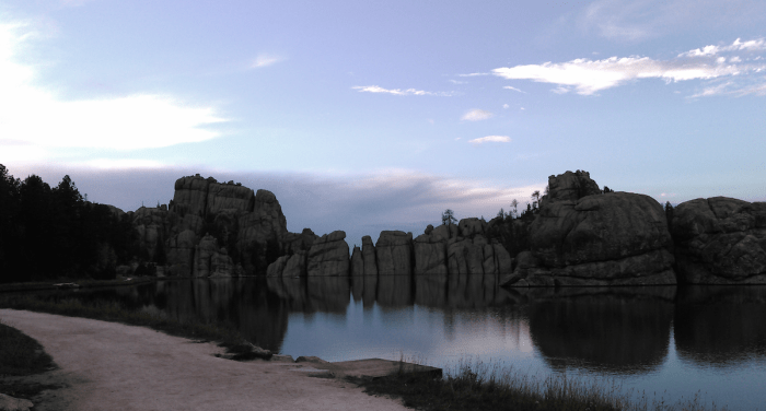 Sylvan Lake at dusk