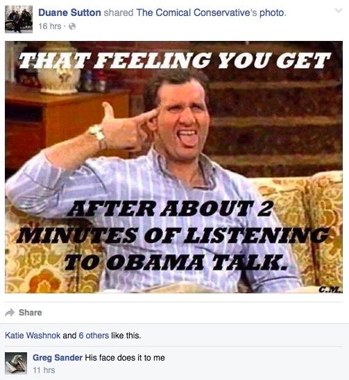 Duane Sutton Facebook post, 2015.11.29