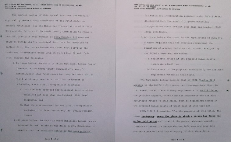SD Municipal League, motion to intervene, 46CIV15-000094, 2016.01.11, pp 3–4.