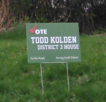 Todd Kolden campaign sign