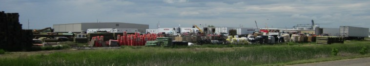 Michels Construction equipment at Huron staging area for Dakota Access pipeline. Photo: Mary Lou Davis, 2016.05.27.