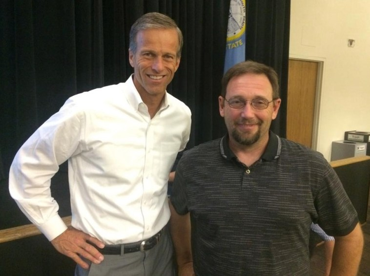 Senator John Thune with Michael Napier, Facebook photo, 2016.04.07.