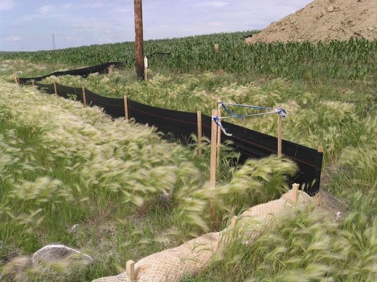 Run-off/erosion mitigation at Dakota Access crossing of Highway 19.