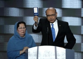Ghazala and Khizr Khan, creating the iconic moment of the Democratic National Convention, Philadelphia, PA, 2016.07.28.