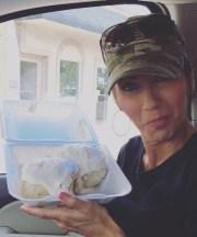 Kristi Noem with cinnamon rolls