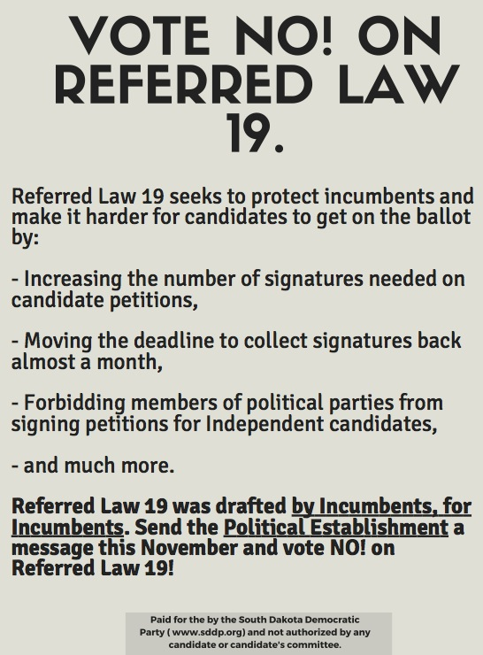 SDDP flyer on Referred Law 19, first circulated 2016.08.17.