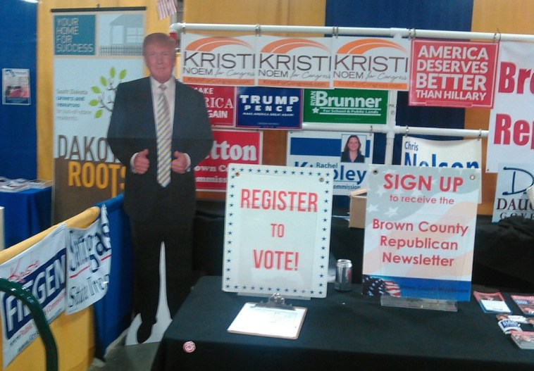 Brown County Republican booth, Brown County Fair, 2016.08.18.
