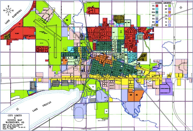 Watertown zoning map, updated 2015.12.23.