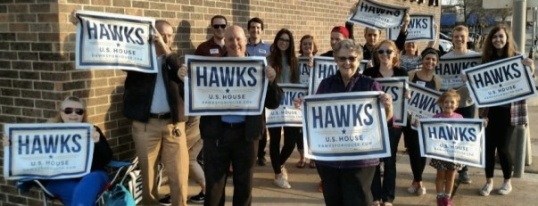 Wave those Hawks signs!