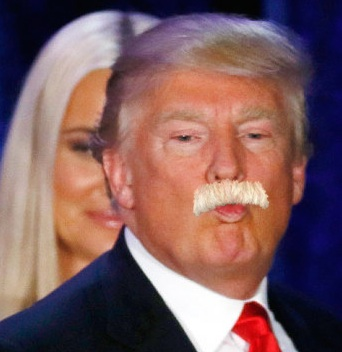 Trump smoochy 'stache