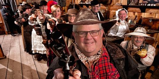 SD Legislators as cowboys with guns at saloon