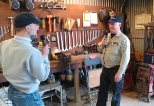 Brian Sharp (right) speaks to CAH from the Sharp farm east of Aberdeen.