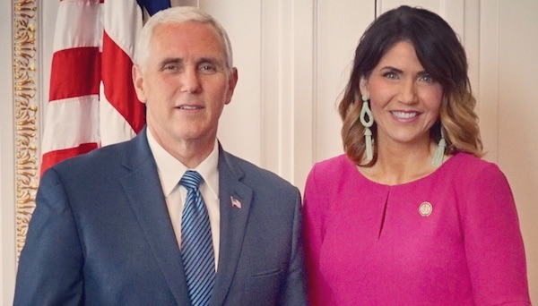 Mike Pence and Kristi Noem
