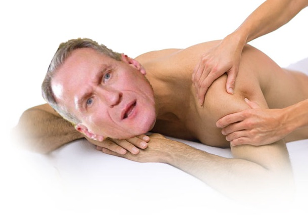Daugaard's masseur needs no license.