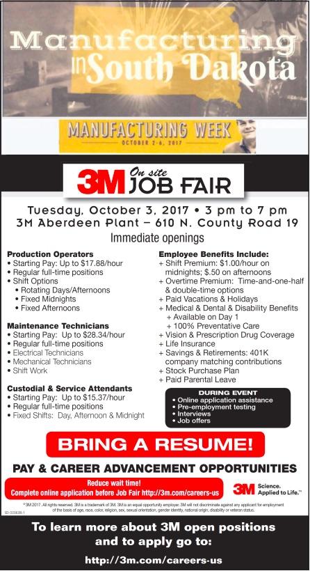 3M Aberdeen Job Fair 20171003