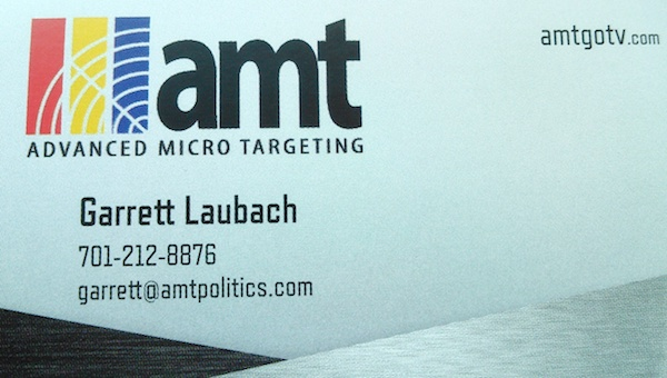 Advanced Micro Targeting business card.