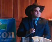 Sen. Billie Sutton takes questions at Brown County Democratic Forum, Aberdeen, SD, 2017.11.13.