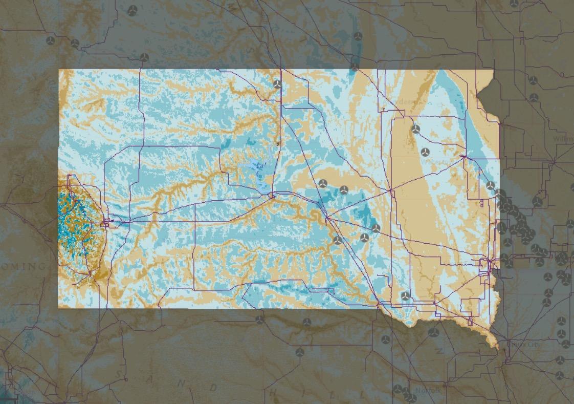 EIA Map Shows South Dakota Wind Farm Desert Dakota Free Press - Us wind farm map