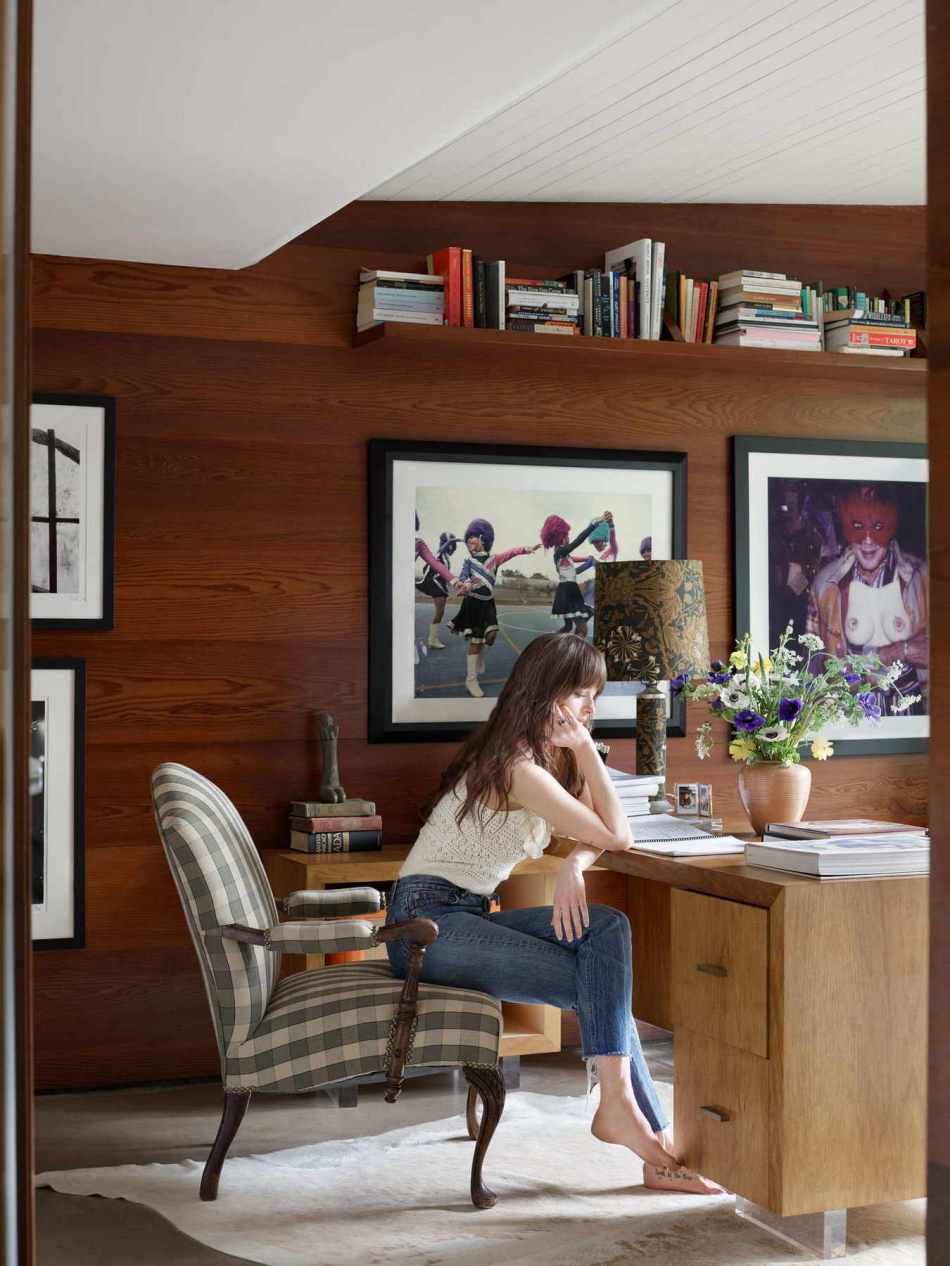 Dakota Johnson Poses for Architectural Digest magazine this March issue