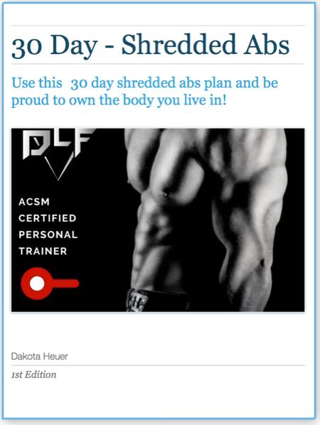 30 Days Shredded Abs Program