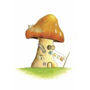 """Hippie Mushroom"" by Dakota Midnyght Art"