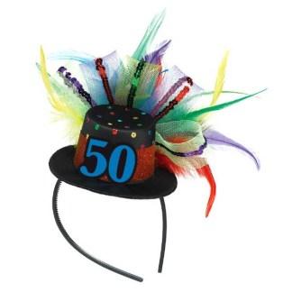 50th Birthday Hat Headband