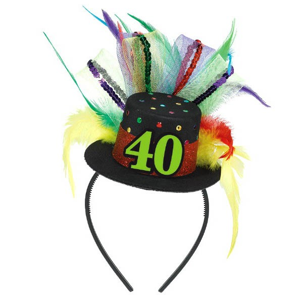 40th Birthday Hat Headband