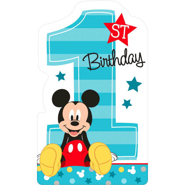 Mickey Mouse Fun To Be One 1st Birthday Invitation Postcards 8ct