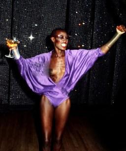 Grace Jones Glass In Hand Disco