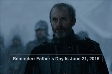 Reminder Father's Day is June 21