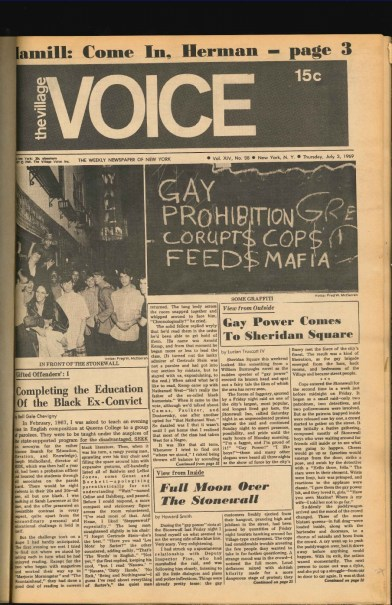 Village Voice Cover-stonewall riot