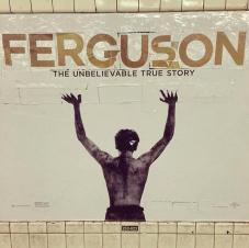 #Ferguson #MikeBrown Subway Poster Street Art