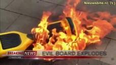 evil hoverboard explodes