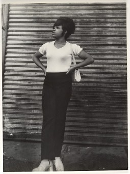 Woman in White Tee Shirt and Black Pants Leon Levinstein