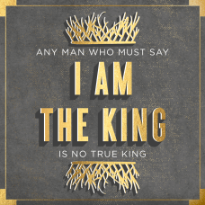 I am the King Game of thrones typography poster