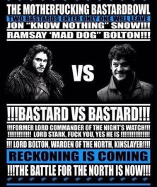 Game of Thrones Meme Ramsay Bolton Jon Snow Battle