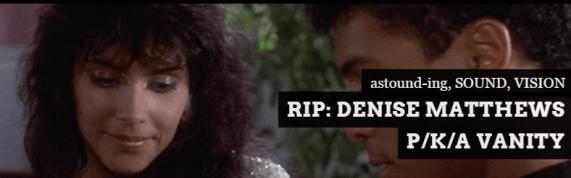 RIP: Denise Matthews // VANITY