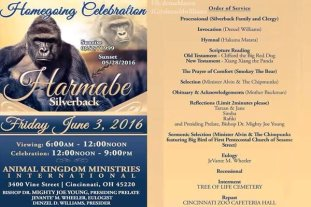 Harambe Memes Funeral Flyers