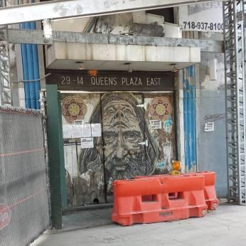 Queens Plaza East Street Art closed cub