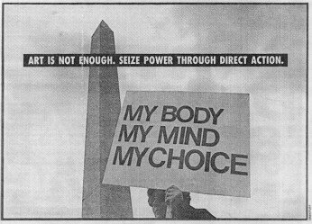 Art is Not Enough-Direct Action Gran Fury