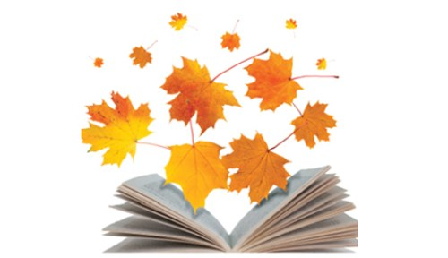 leaves in book