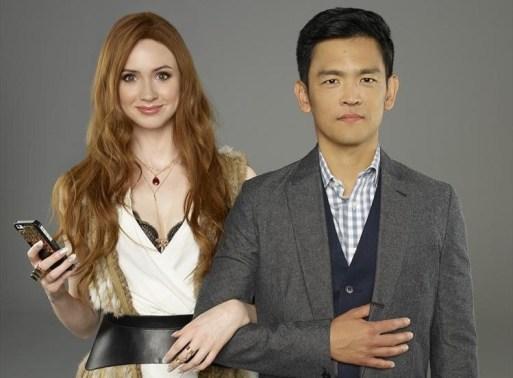 "SELFIE - ABC's ""Selfie"" stars Karen Gillan as Eliza and John Cho as Henry. (ABC/Bob D'Amico)"