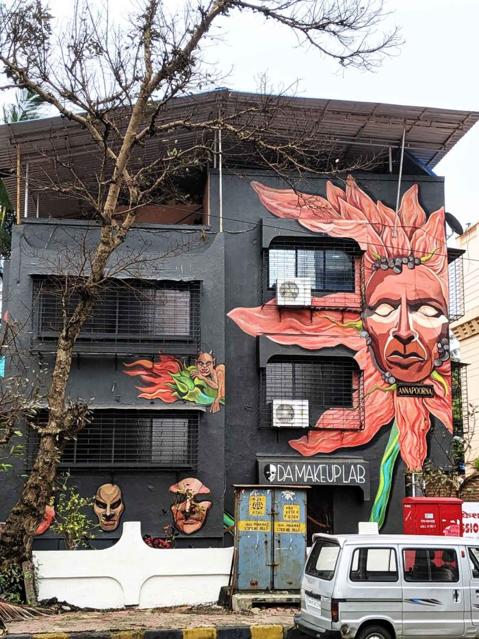 Murals adorn the new office building of Bollywood's No.1 makeup, hair and prosthetic designer Preetisheel Singh in Versova.