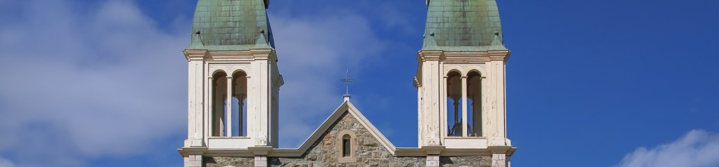 Gothic Revival Architecture: Church and Two Steeples
