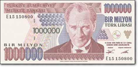 مليون ليرة تركية