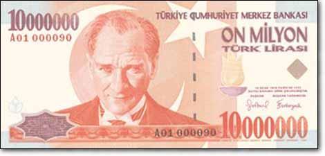 10 مليون ليرة تركية
