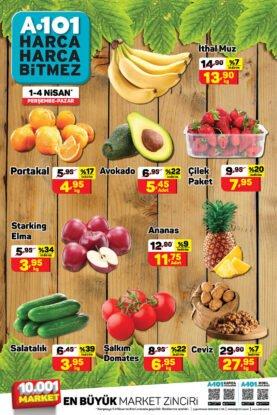تخفيضات ماركت يوزبيرA101 على الفواكه والخضروات