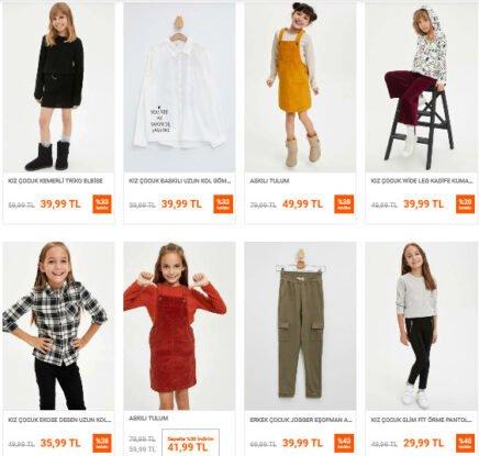 تخفيضات متجر ديفاكتو Defacto على ألبسة الأطفال
