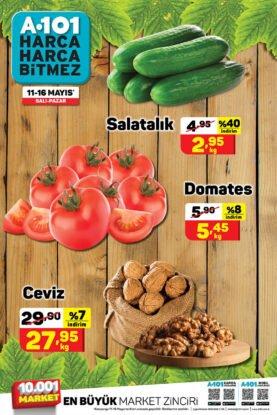 تخفيضات ماركت يوز بير A101 على الجوز والخضروات