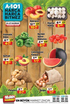 تخفيضات ماركت يوز بير A101 على الفواكه والخضروات